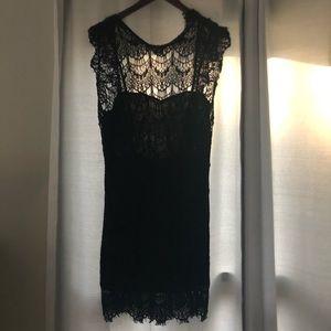 Free people lace black dress.